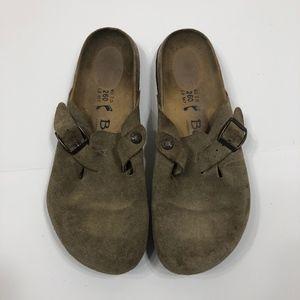 Betula by Birkenstock Tan Footbed Clogs Size 40
